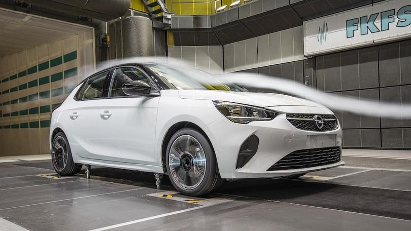 Nuova Opel Corsa, aerodinamica al top