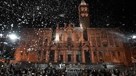 """Il miracolo della neve"" imbianca Santa Maria Maggiore"