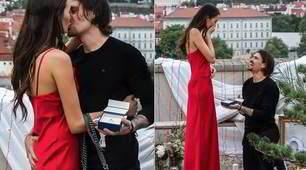 La Schickova si sposa, proposta con... toccatina