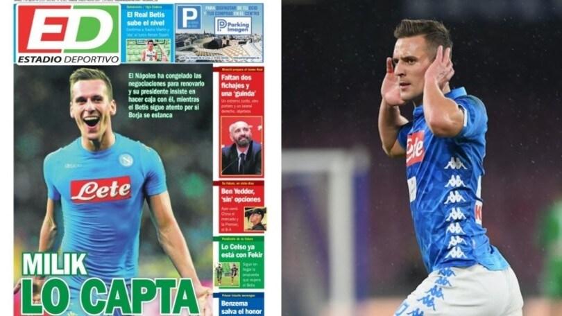 """Milik-Napoli, rinnovo bloccato. Betis pronto ad approfittarne"""