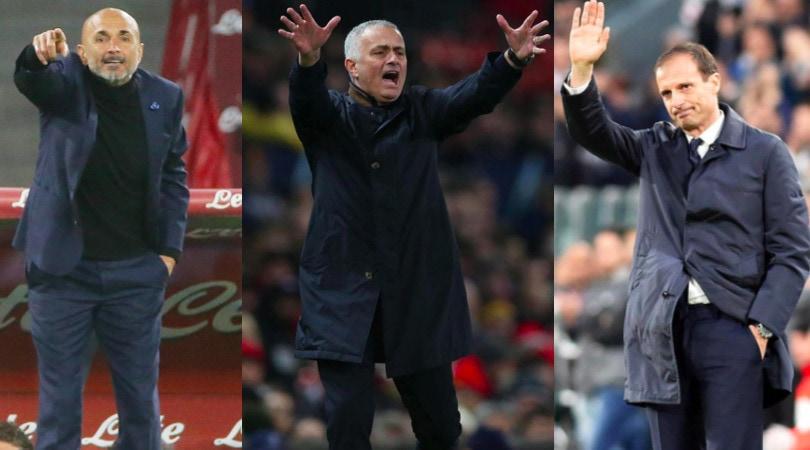 Da Mourinho ad Allegri, quanti allenatori senza panchina
