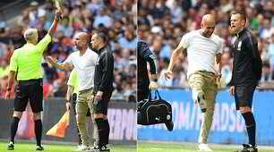 Guardiola ammonito per proteste durante Liverpool-Manchester City