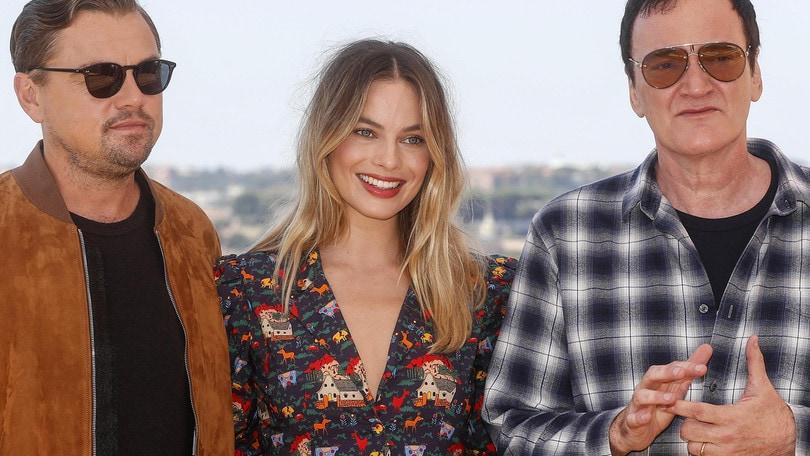 Tarantino, DiCaprio e Margot Robbie a Roma per C'era una volta a… Hollywood