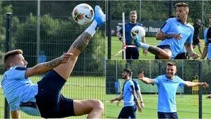 Milinkovic Savic, magie e sorrisi in allenamento con la Lazio