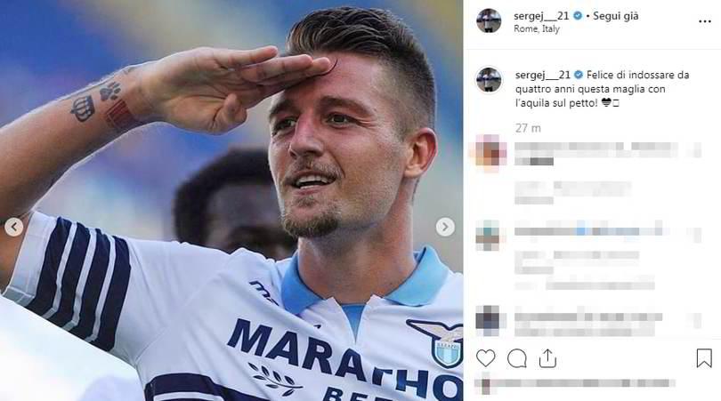 """Milinkovic, messaggio alla Lazio: """"Felice con questa maglia!"""""""