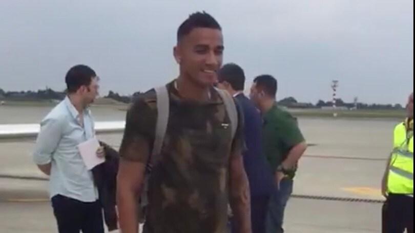 Danilo alla Juve: è atterrato a Torino