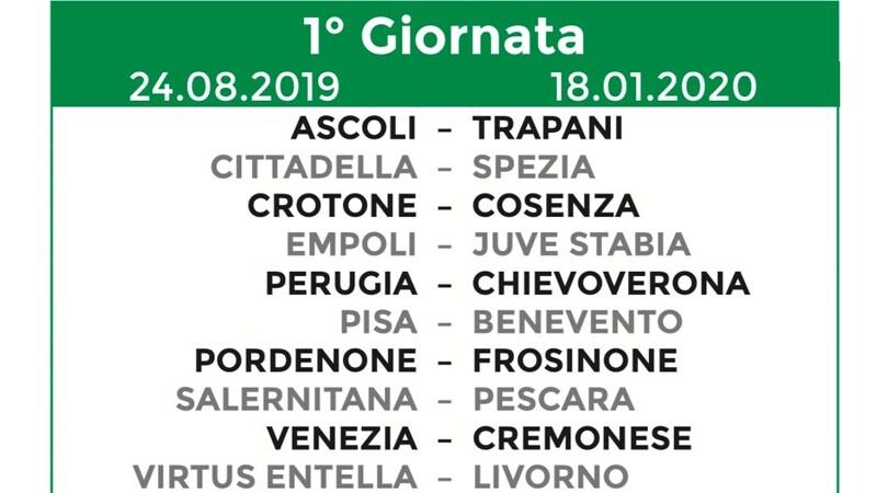 Calendario Serie A 15 Ottobre.Calendario Serie B 2019 20 Tutte Le 38 Giornate Corriere