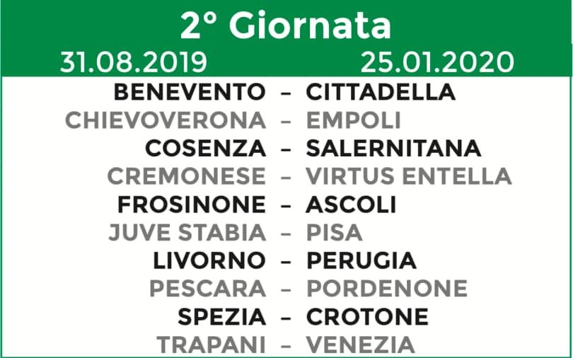 Calendario Serie A Seconda Giornata.Calendario Serie B 2019 20 Tutte Le 38 Giornate Corriere