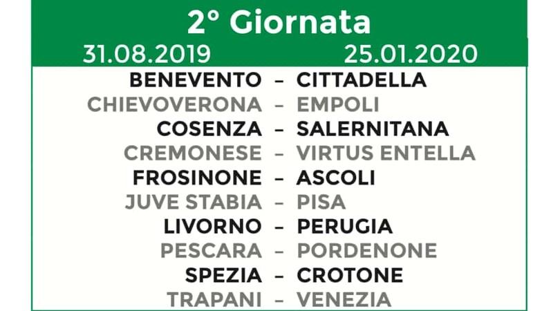 Calendario Serie B 2019/20: tutte le 38 giornate
