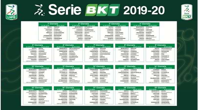 Calendario Di Serie B.Calendario Serie B 2019 20 Tutte Le 38 Giornate Corriere