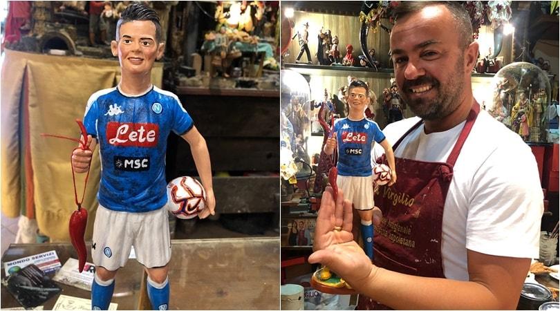 Napoli, il Chucky Lozano è già nel presepe