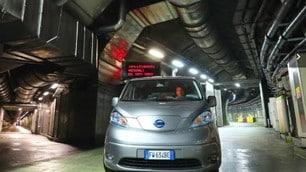 Nissan e-NV200 Evalia al Gran Sasso, gli scatti