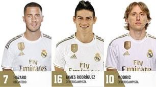 Il Real dà i numeri: la 7 ad Hazard, James col 16