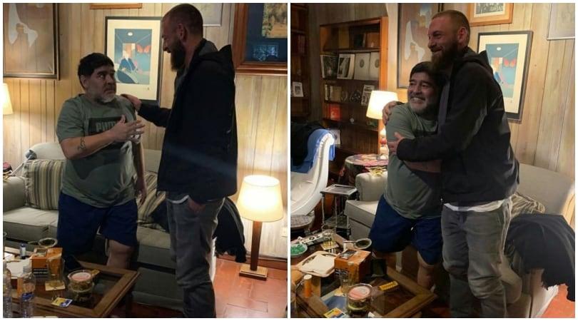 Quando De Rossi abbracciò Maradona
