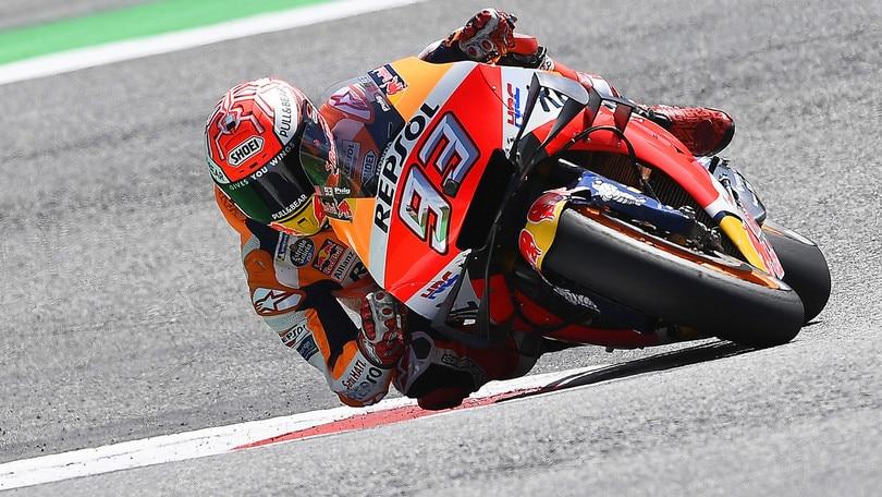 Gp Austria: Marquez si prende la pole, Valentino Rossi decimo