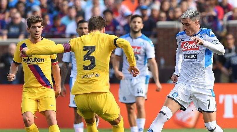 Napoli-Barcellona 0-4: Ancelotti travolto, arbitro disastroso