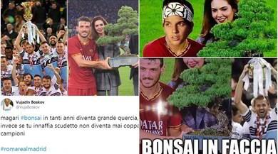La Roma alza... un bonsai! Si scatenano le ironie social