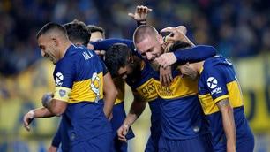 De Rossi, gol e cori all'esordio col Boca
