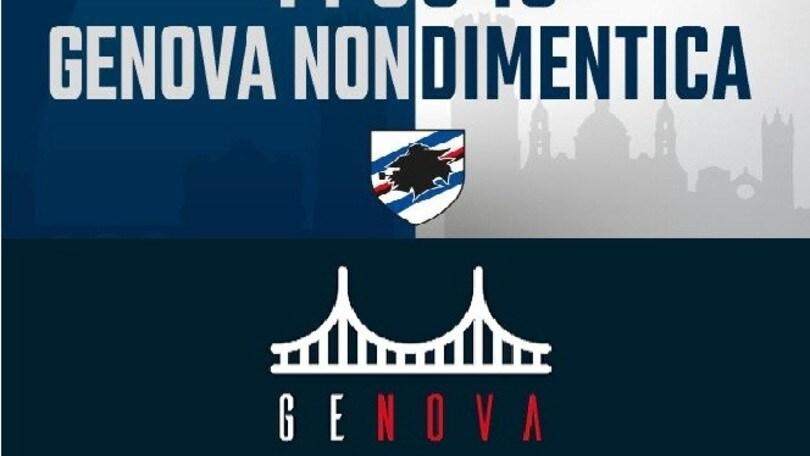 Ponte Morandi, il ricordo di Genoa e Sampdoria