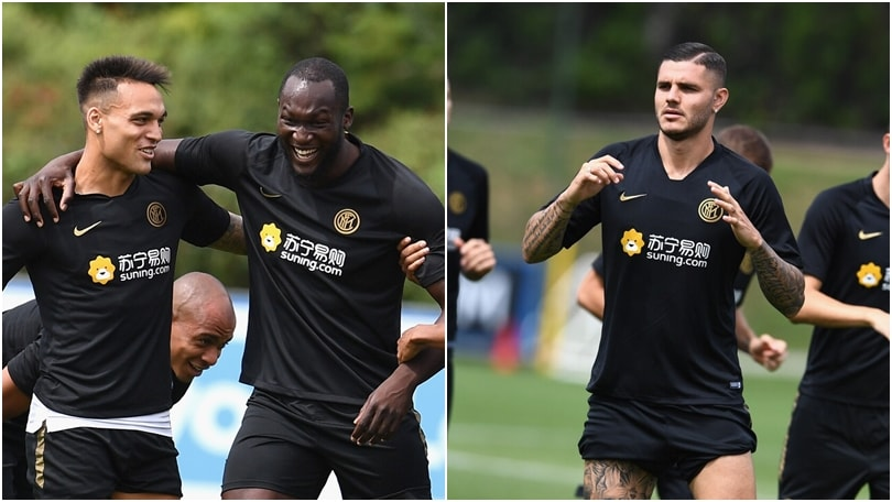 Inter, che sintonia tra Lukaku e Lautaro! Mentre Icardi...