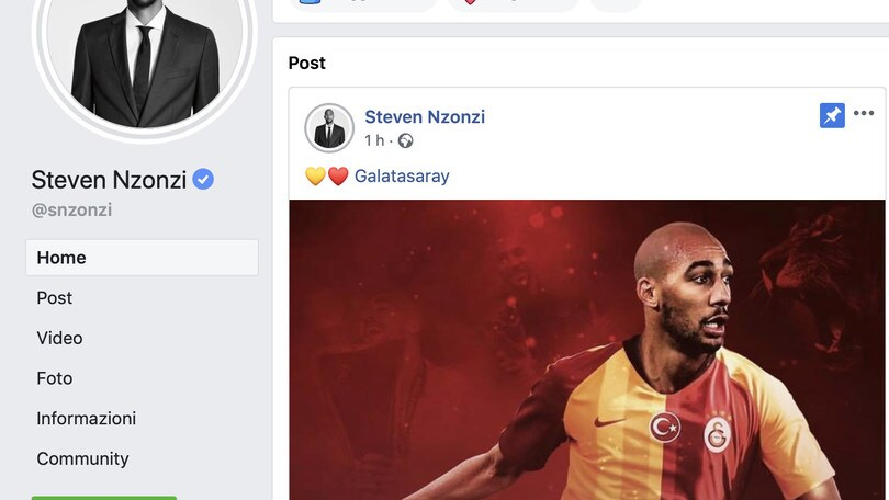 Roma, Nzonzi si annuncia al Galatasaray: posta la foto con la maglia dei turchi