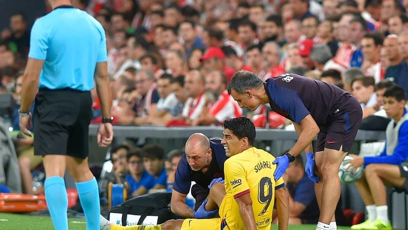 Barcellona, Suarez ko contro l'Athletic Bilbao