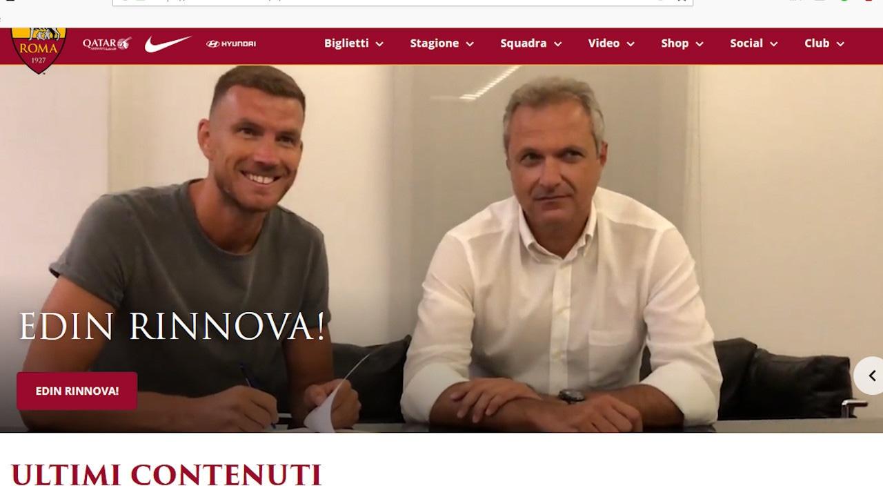 Ufficiale, Dzeko alla Roma fino al 2022