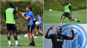 Lukaku, Conte lo vuole al top: l'allenamento di Big Rom