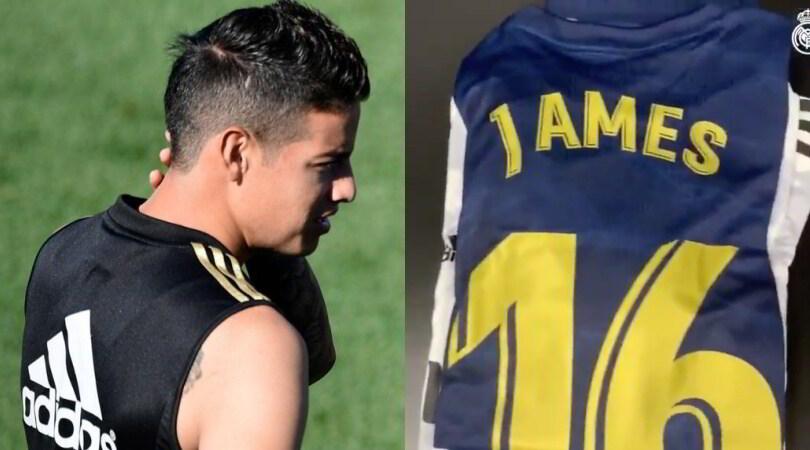 James Rodriguez in panchina con il Real Madrid: Napoli sempre più lontano