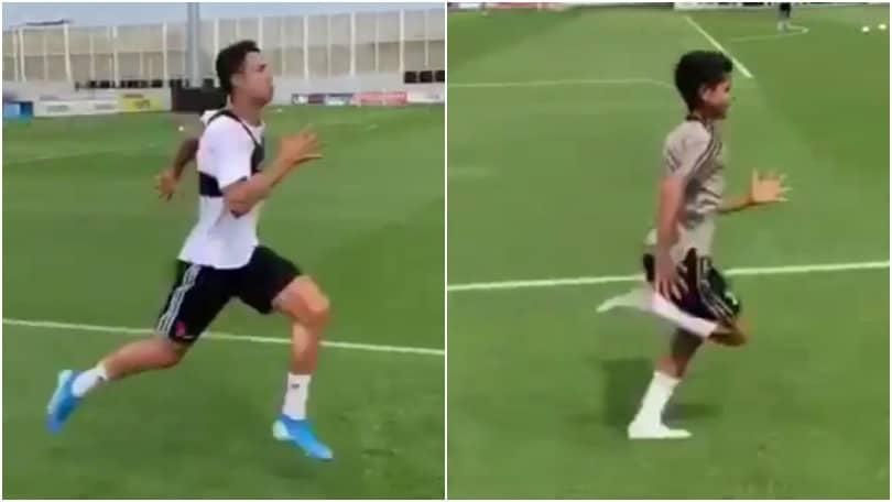 Ronaldo si allena con Cristianinho