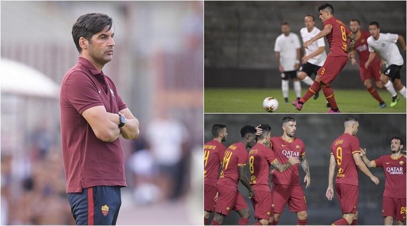 Perotti, Dzeko e Kluivert trascinano la Roma: 3-1 all'Arezzo