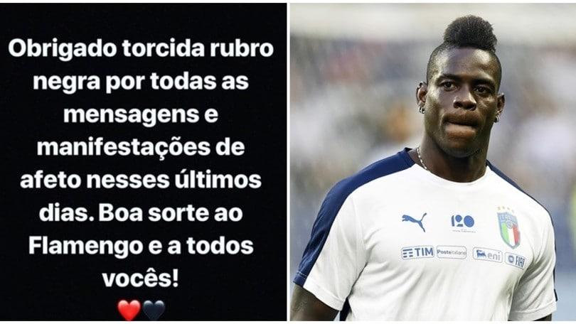Balotelli ringrazia il Flamengo:
