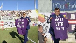 """Fiorentina, la maglia per i tifosi: """"Non c'è vita senza voi"""""""