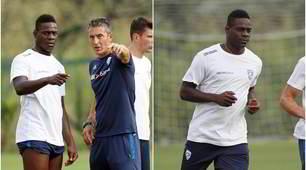 Balotelli, primo allenamento con il Brescia