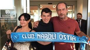 Napoli, l'arrivo di Lozano a Ciampino