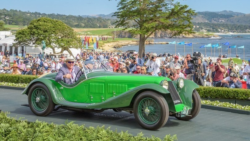 Maserati V4 Zagato Spider vince un premio speciale a Pebble Beach