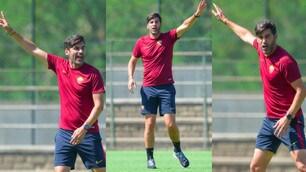 Roma, la carica di Fonseca in allenamento