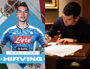 """Lozano al Napoli, è ufficiale: """"Benvenuto!"""""""