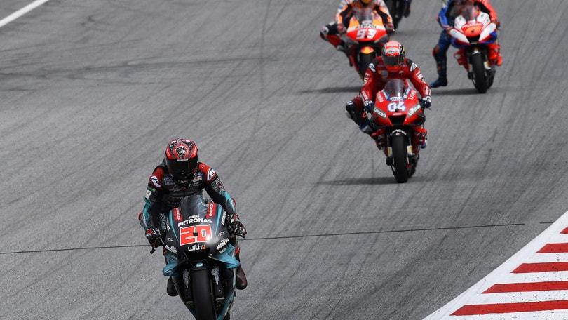 Silverstone: Quartararo vola, settimo Valentino Rossi