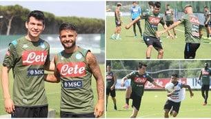 Napoli, il primo allenamento di Lozano