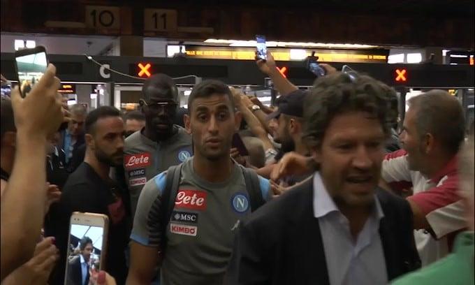 Il Napoli è arrivato a Firenze