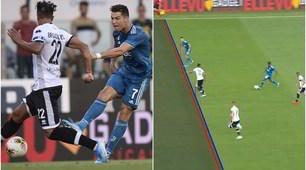 Ronaldo, fuorigioco millimetrico: il Var annulla il gol