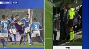 Fiorentina-Napoli, rigore col Var: la fotosequenza del fallo