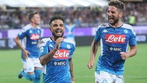 Insigne, doppietta e show! Il Napoli parte forte a Firenze