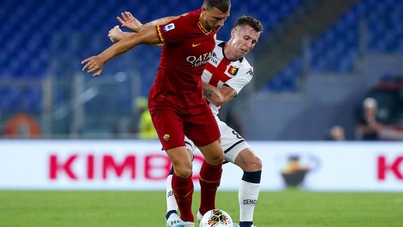 Roma-Genoa 3-3, il tabellino