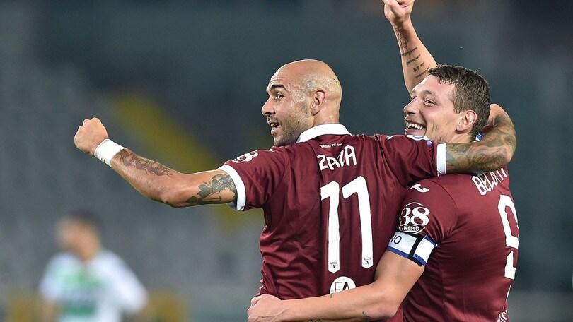 Torino-Sassuolo 2-1, il tabellino