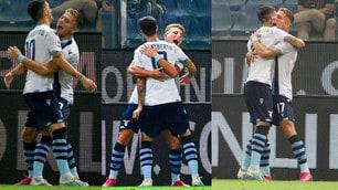 Immobile, gol numero 100 in Serie A e abbraccio a Luis Alberto