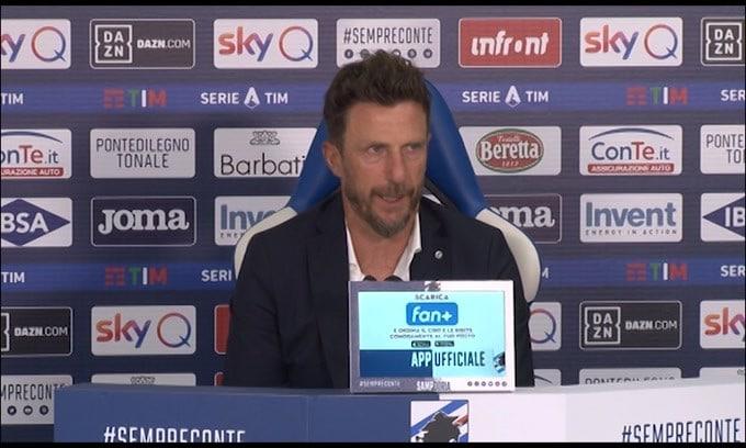 """Di Francesco: """"Servono rinforzi. Lazio superiore"""""""