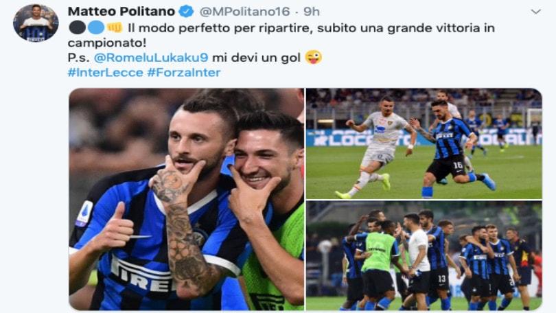 Inter, Politano a Lukaku: