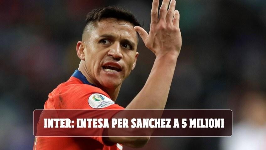 Inter, per Sanchez c'è l'intesa a 5 milioni
